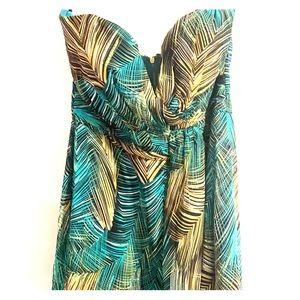 Peacock event long dress